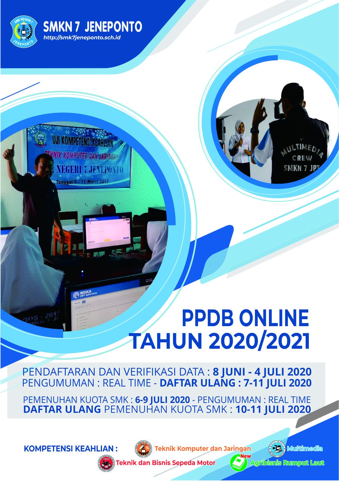 Pendaftaran Peserta Didik Baru (PPDB) TP. 2020/2021